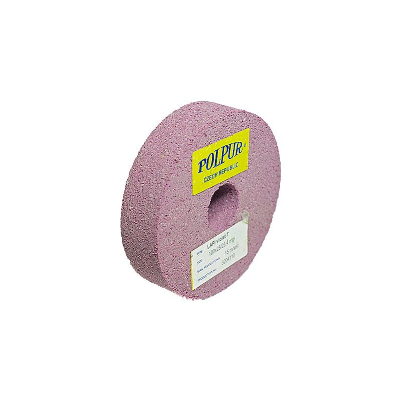 4 Inch Flat Edged Polpur Lapi-T Violet Wheel