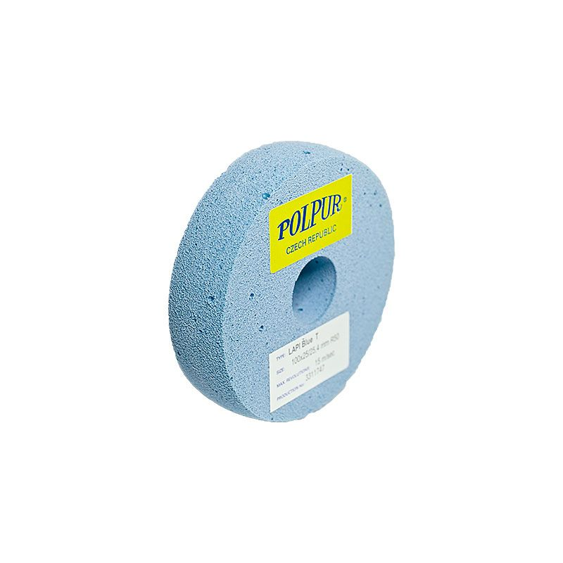 4 Inch Radiused Polpur Lapi-T Blue Wheel