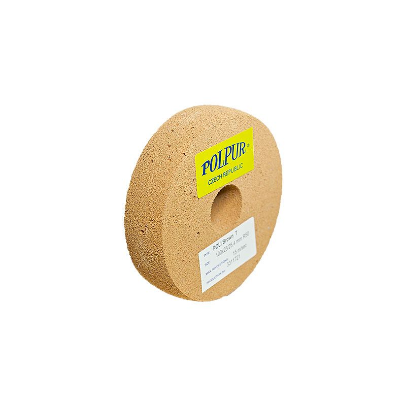 4 Inch Radiused Polpur Lapi-T Brown Wheel