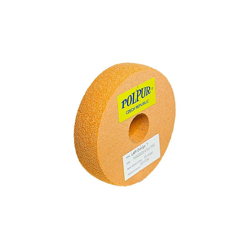 4 Inch Radiused Polpur Lapi-T Orange Wheel