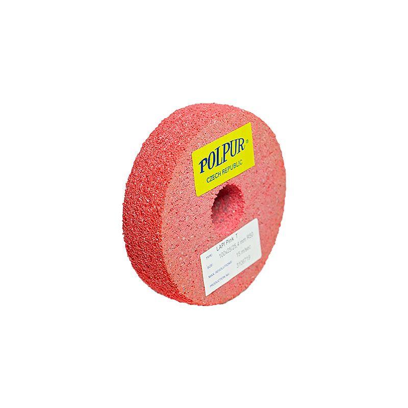 4 Inch Radiused Polpur Lapi-T Pink Wheel