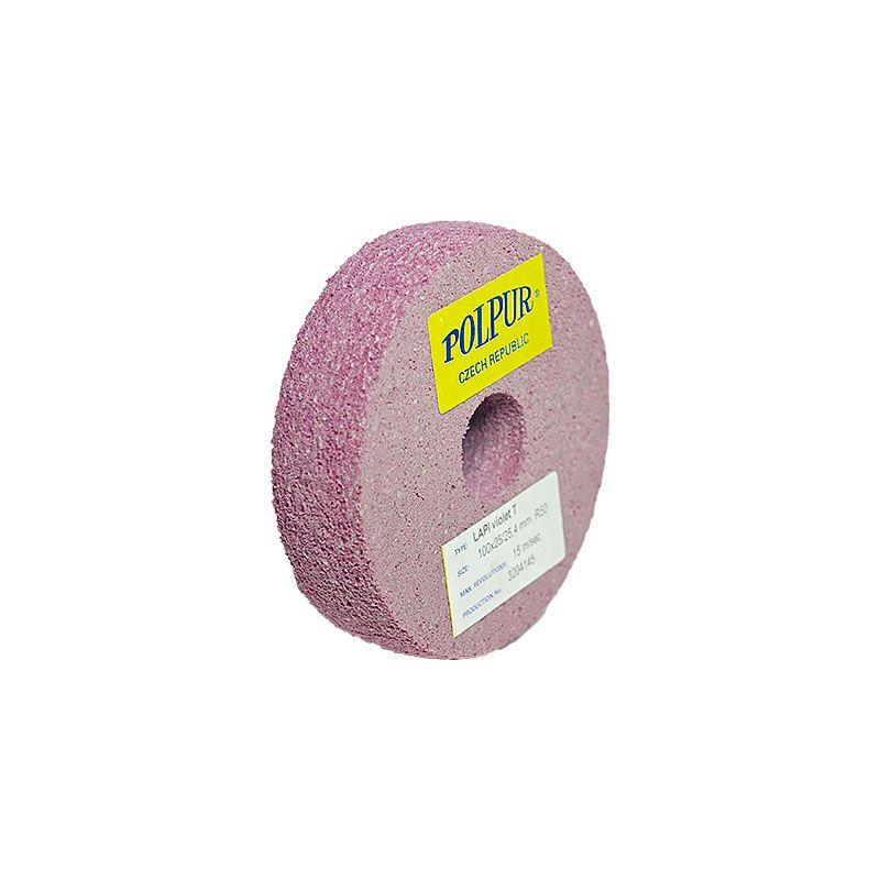 4 Inch Radiused Polpur Lapi-T Violet Wheel