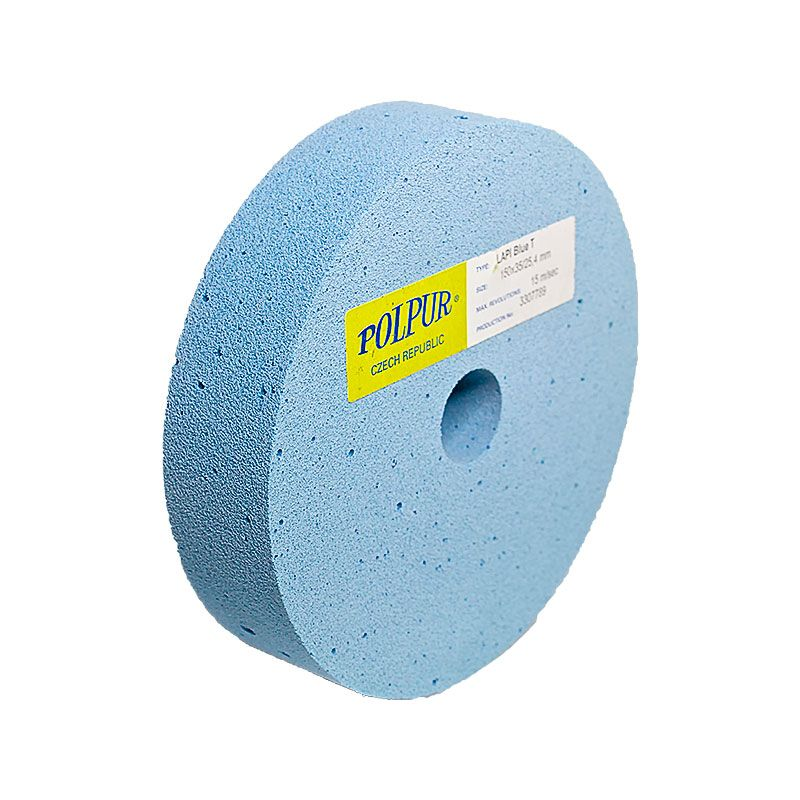 6 Inch Flat Edged Polpur Lapi-T Blue Wheel