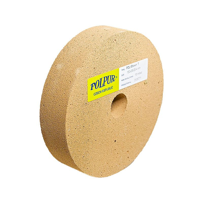6 Inch Flat Edged Polpur Lapi-T Brown Wheel
