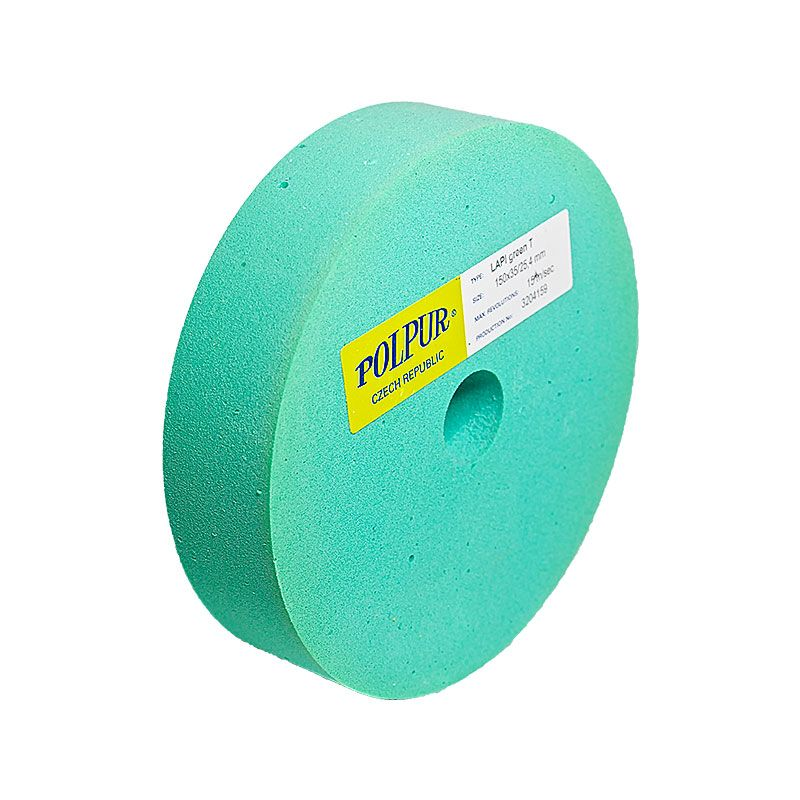 6 Inch Flat Edged Polpur Lapi-T Green Wheel