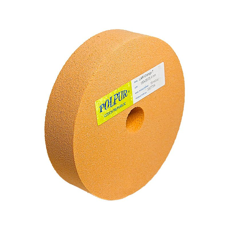 6 Inch Flat Edged Polpur Lapi-T Orange Wheel