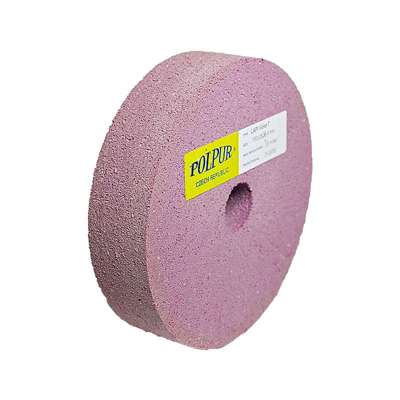 6 Inch Flat Edged Polpur Lapi-T Violet Wheel