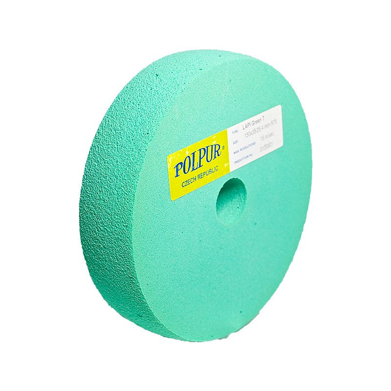 6 Inch Radiused Polpur Lapi-T Green Wheel