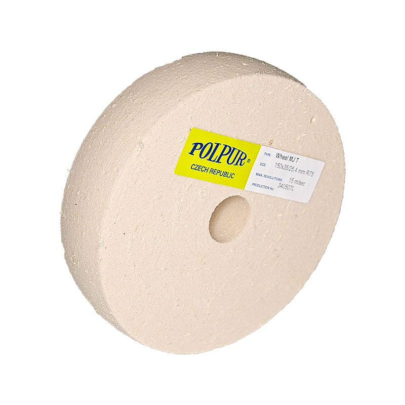 6 Inch Radiused Polpur MJ Pumice Wheel