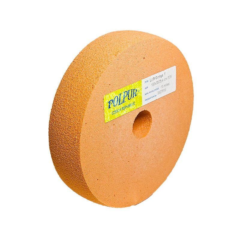 6 Inch Radiused Polpur Lapi-T Orange Wheel