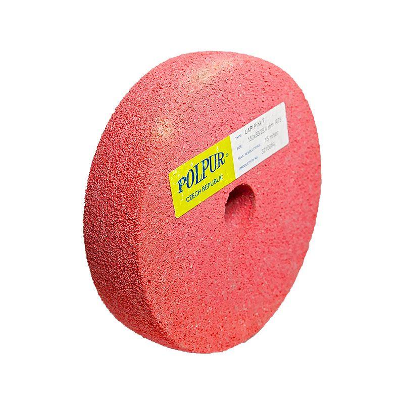 6 Inch Radiused Polpur Lapi-T Pink Wheel