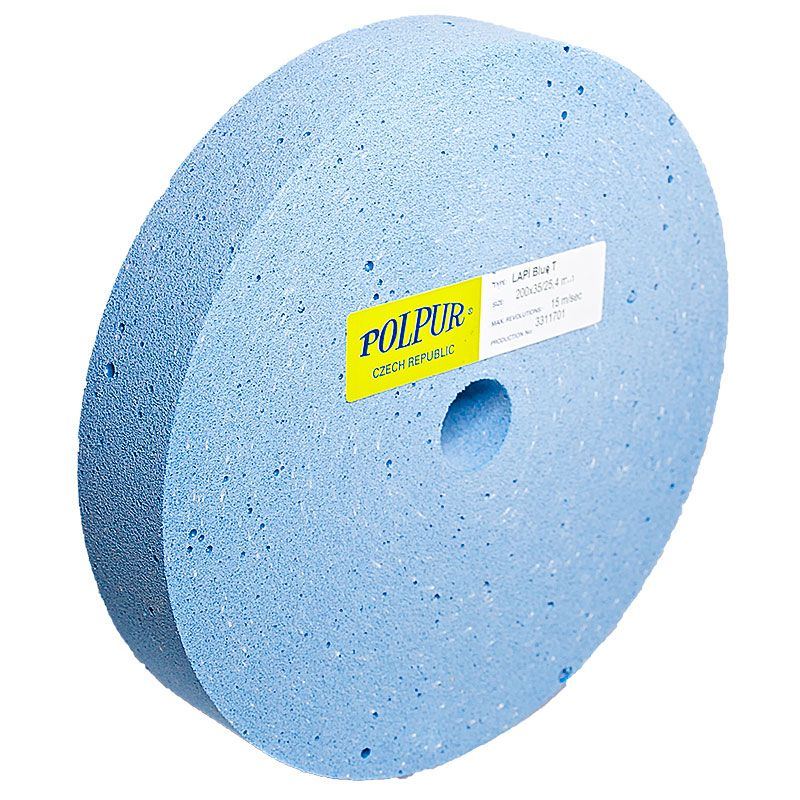 8 Inch Flat Edged Polpur Lapi-T Blue Wheel