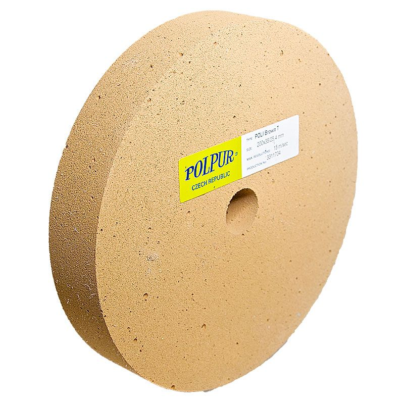8 Inch Flat Edged Polpur Lapi-T Brown Wheel
