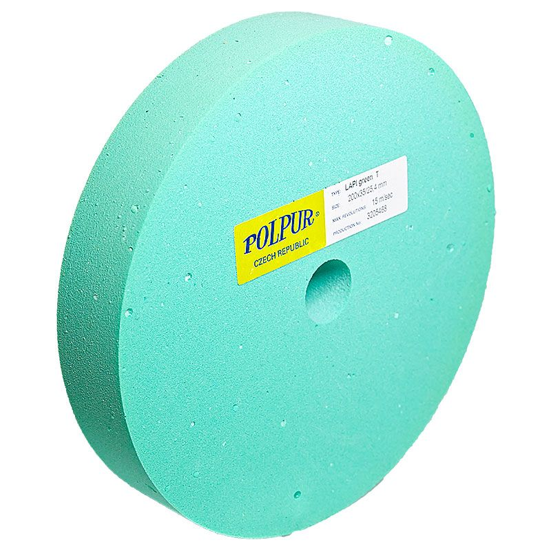 8 Inch Flat Edged Polpur Lapi-T Green Wheel