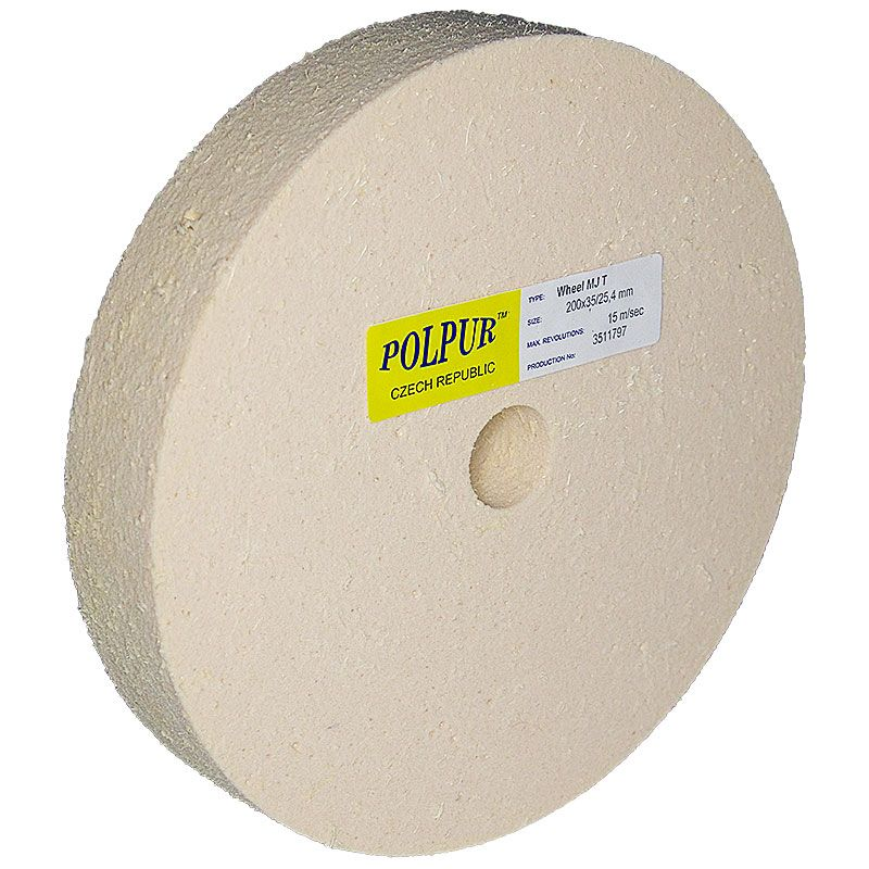 8 Inch Flat Edged Polpur MJ Pumic Wheel
