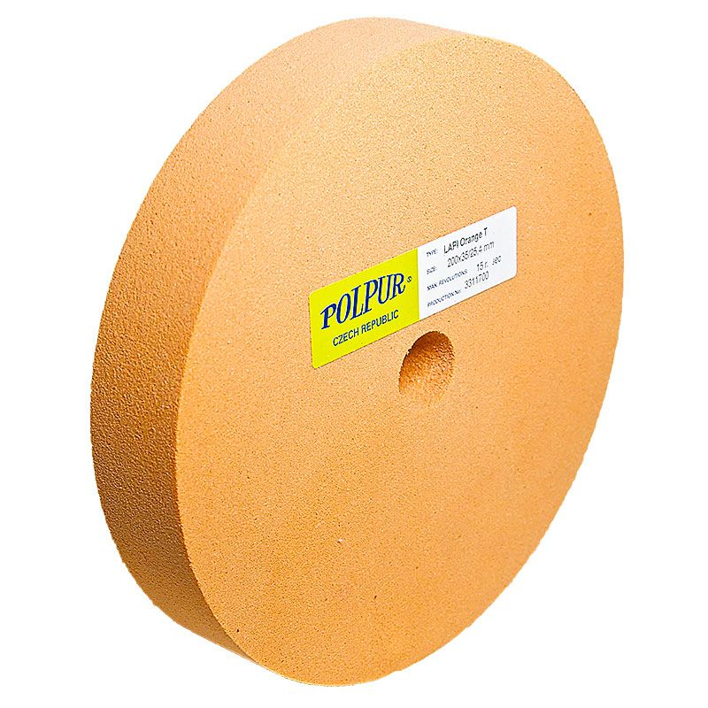 8 Inch Flat Edged Polpur Lapi-T Orange Wheel