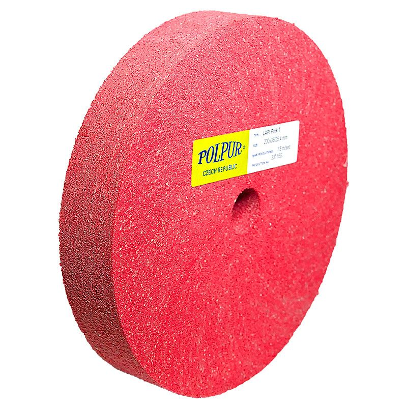 8 Inch Flat Edged Polpur Lapi-T Pink Wheel