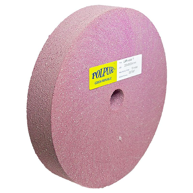 8 Inch Flat Edged Polpur Lapi-T Violet Wheel