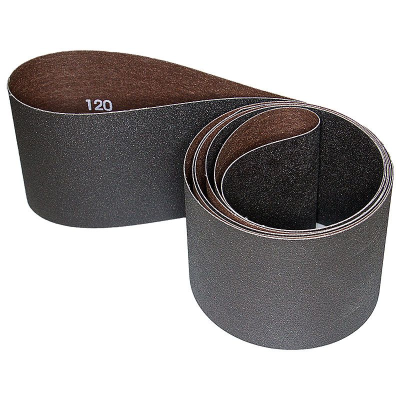 4 Inch x 106 Inch 120 Grit Silicon Carbide Belt Pack of 5