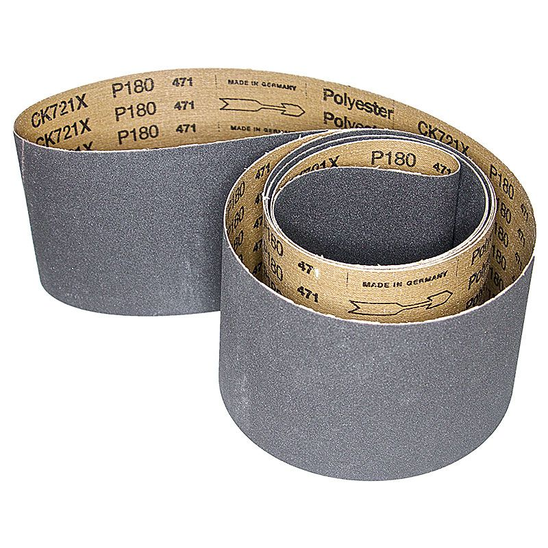 4 Inch x 106 Inch 180 Grit Silicon Carbide Belt Pack of 5