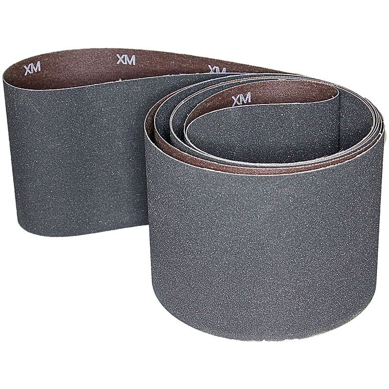4 Inch x 106 Inch 220 Grit Silicon Carbide Belt Pack of 5