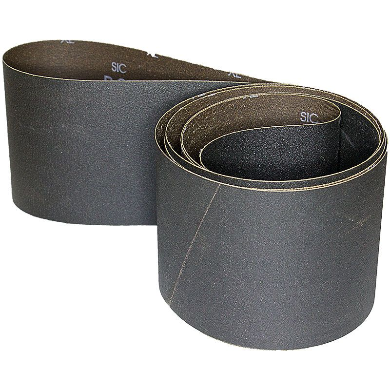 4 Inch x 106 Inch 320 Grit Silicon Carbide Belt Pack of 5