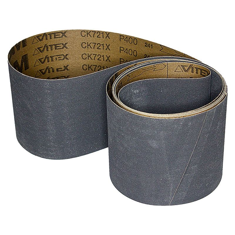 4 Inch x 106 Inch 400 Grit Silicon Carbide Belt Pack of 5