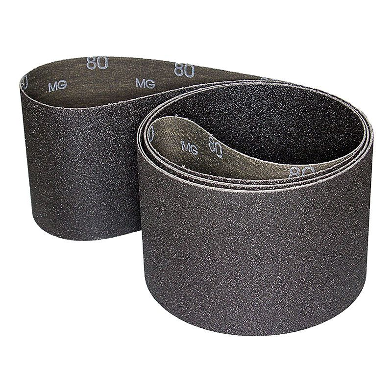 4 Inch x 106 Inch 80 Grit Silicon Carbide Belt Pack of 5