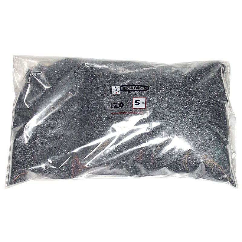 5 Pounds 120 Grit Graded Silicon Carbide