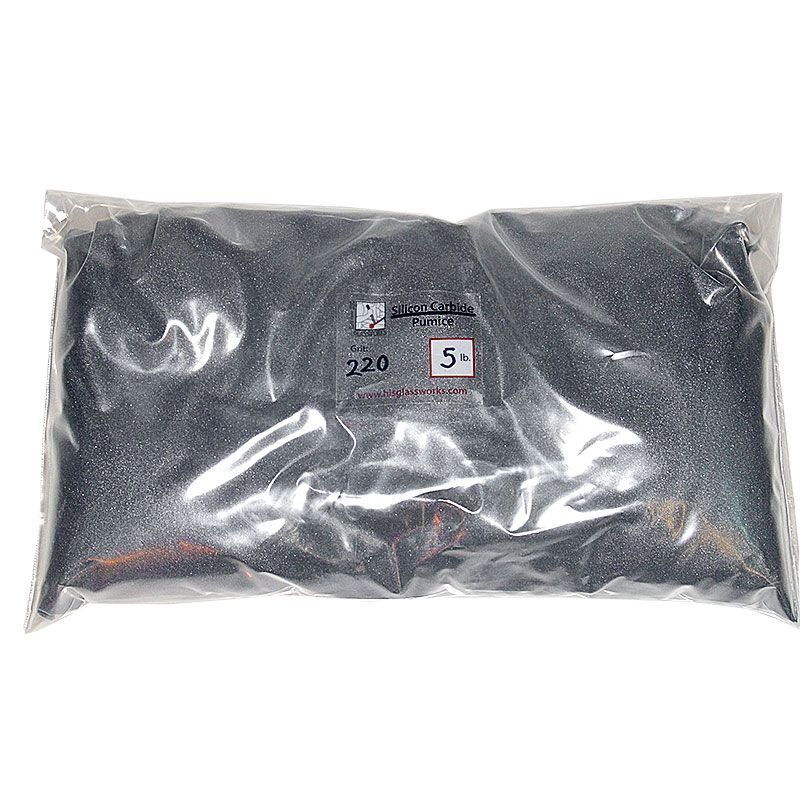 5 Pounds 220 Grit Graded Silicon Carbide
