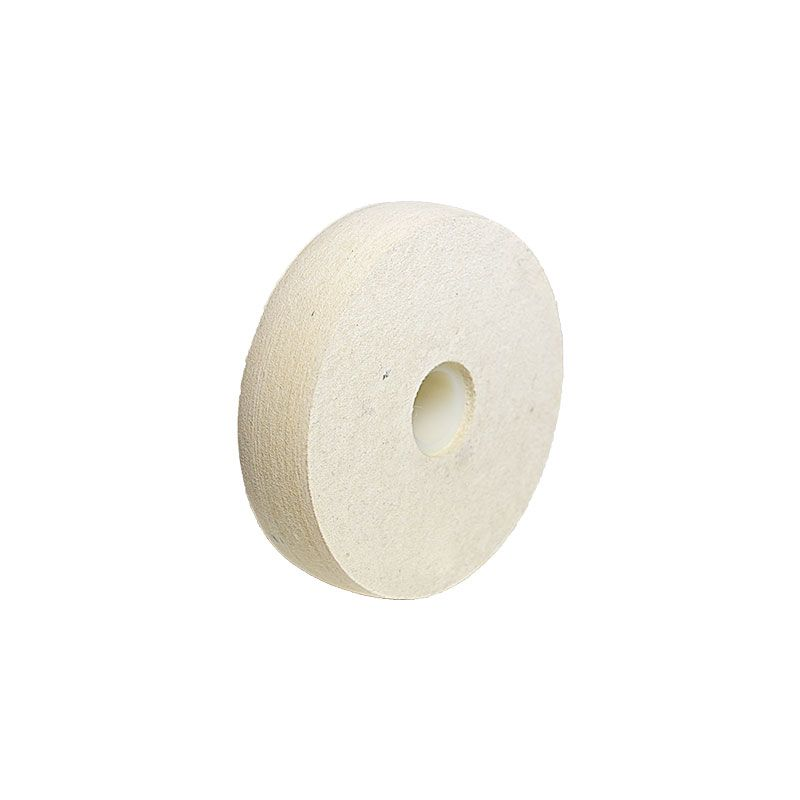 4 Inch x 1 Inch Radiused Felt Polishing Wheel