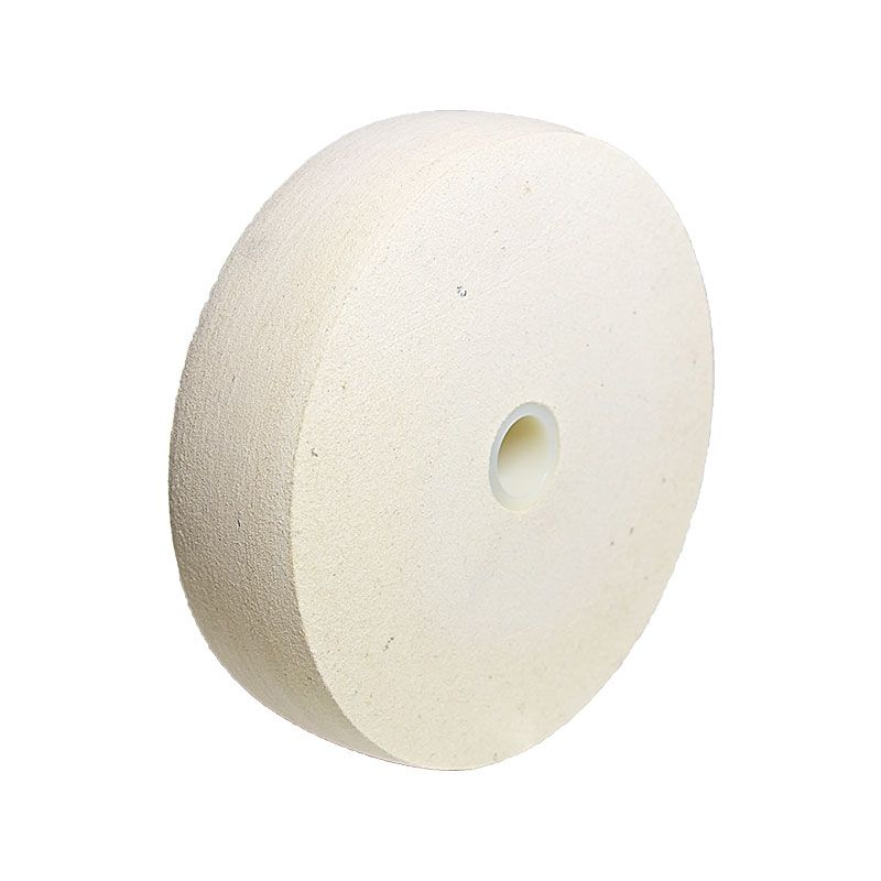 6 Inch x 1-1/2 Inch Radiused Felt Polishing Wheel