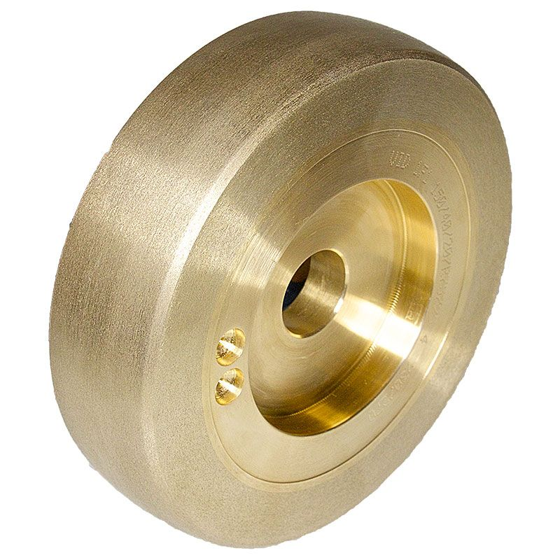 6 Inch x 1-1/2 Inch Radiused 230/270 Grit Sintered Diamond Wheel
