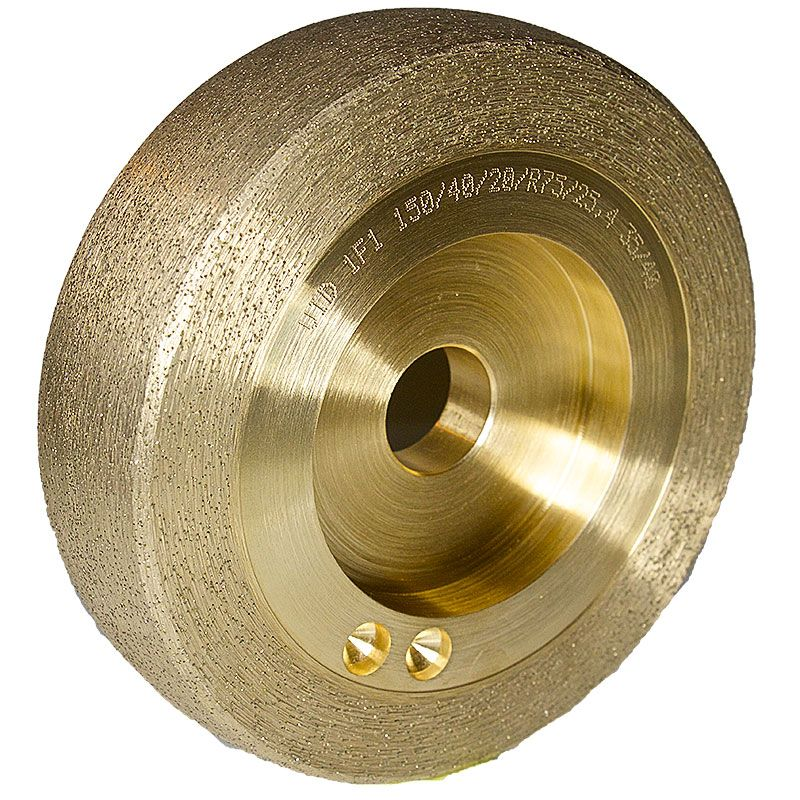 6 Inch x 1-1/2 Inch Radiused 35/40 Grit Sintered Diamond Wheel