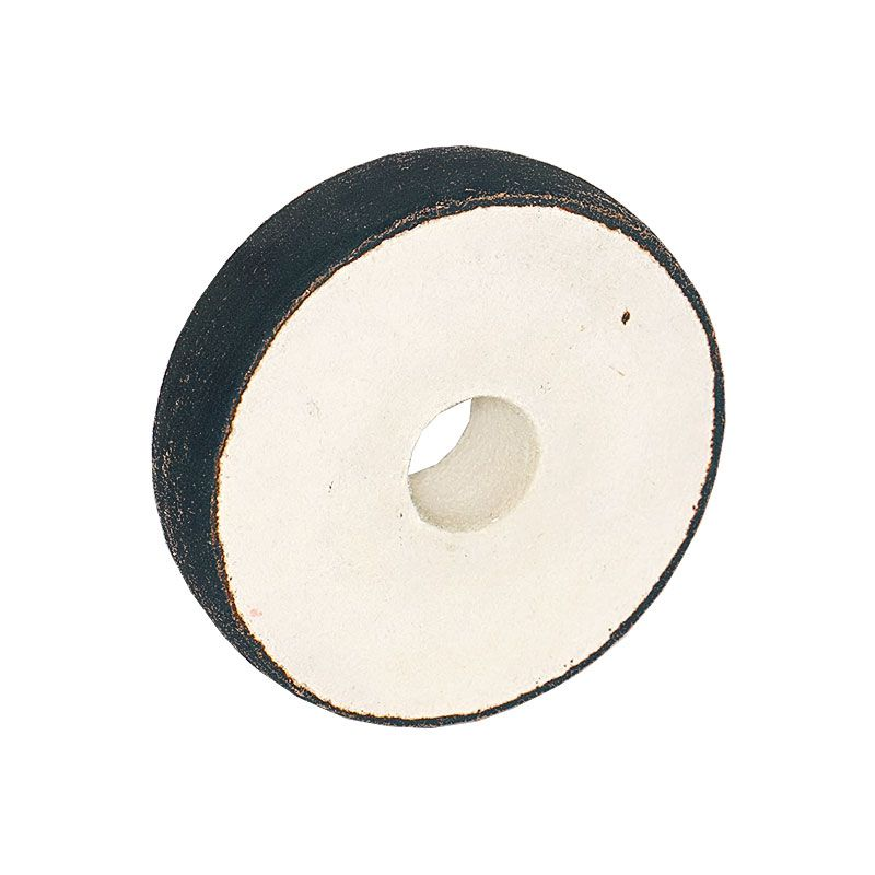 4 inch x 1 Inch 100 grit Resin Diamond Radiused Wheel on Felt Substrate
