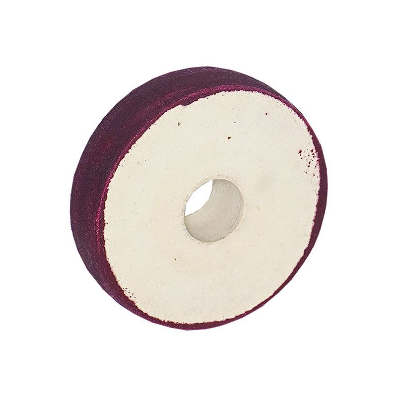 4 inch x 1 Inch 220 grit Resin Diamond Radiused Wheel on Felt Substrate
