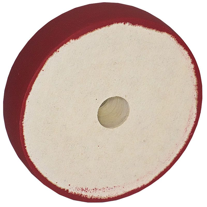 6 inch x 1-1/2 Inch 600 grit Resin Diamond Radiused Wheel on Felt Substrate