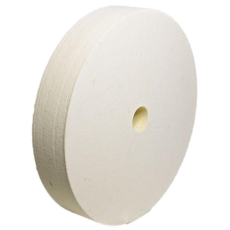 8 Inch x 1-1/2 Inch Flat Edged Felt Polishing Wheel