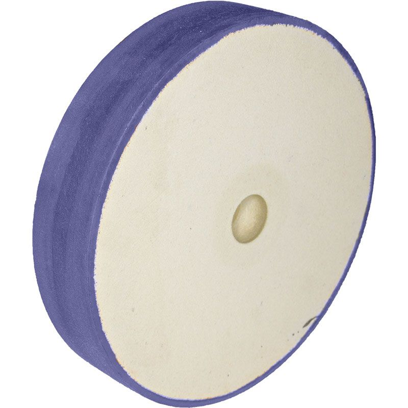 8 Inch x 1-1/2 Inch 220 Grit Flat Edged Diamond Smoothing Wheel
