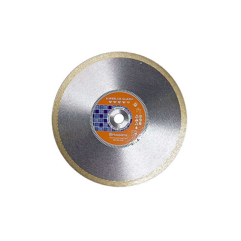 Husqvarna 8 Inch x .065 x 5/8 Inch Superlok Glass+ Fine Diamond Blade