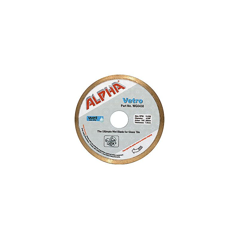 Alpha Vetro Diamond Blade for Wet Circular Saws